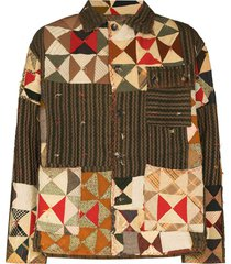 bode x browns 50 bow tie quilted jacket