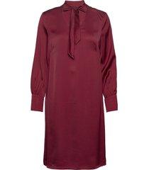 dresses light woven knälång klänning röd esprit collection