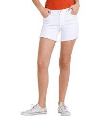 women's l.j.j. basic cutouff denim shorts, size medium - white