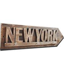 new york - wieszak, tabliczka 3d