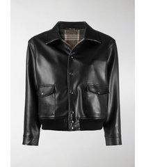 maison margiela faux-leather jacket