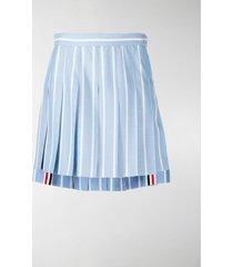 thom browne vertical-stripe pleated mini skirt