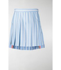 thom browne vertical-stripe pleated mini skirt
