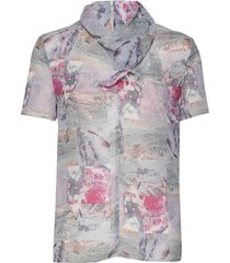 liugia p blouses short-sleeved multi/patroon tiger of sweden