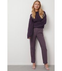 kristin rödin x na-kd straight suit pants - purple