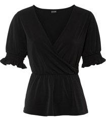 maglia con maniche a sbuffo (nero) - bodyflirt