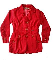 casaco doc kids maze ii vermelho