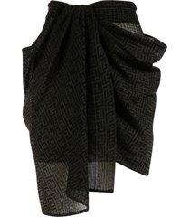 balmain draped mini skirt