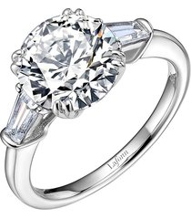 lafonn 'lassaire' three stone ring, size 9 in silver at nordstrom