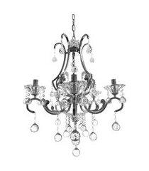 lustre de cristal diamante iluminação 1351/5 maria teresa cromado