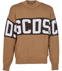 gcds brown sweater with logo