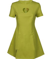 paskal short sleeve mini dress with heart shaped cut out