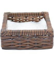 porta guardanapo tradicional fibra sintã©tica  - argila - marrom - dafiti