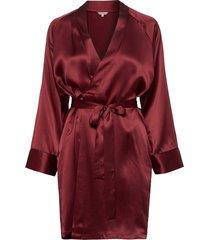 kimono morgonrock röd lady avenue