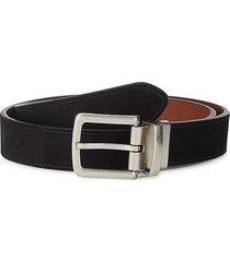 cole haan men's reversible leather-top belt - black tan - size 30