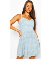 blue flannel woven sun dress, blue