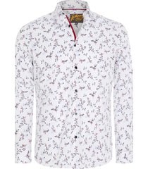 johnny bigg wesley regular fit floral stretch button-up shirt, size x-large in white at nordstrom