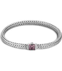 'classic chain' spinel extra small silver bracelet