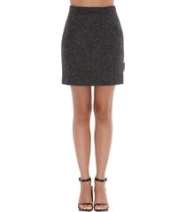 off-white chevrol skirt