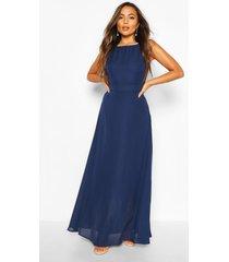 petite gelegenheids maxi jurk, marineblauw