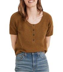 women's madewell henley sweater, size xx-small - green