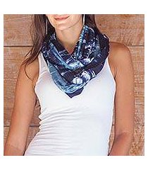 rayon blend infinity scarf, 'dawn sky' (indonesia)