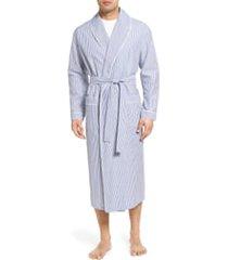 men's majestic international bengal stripe robe, size large/x-large - blue