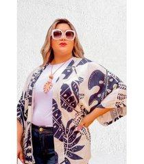 kimono plus size dulce feminino - feminino