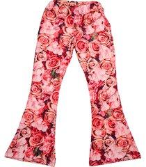 pantalón multicolor cante pido rosas
