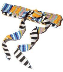 orange multi bow-tie wrap belt