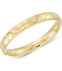 signature gold diamond accent patterned bangle bracelet in 14k gold over resin, created for macy's