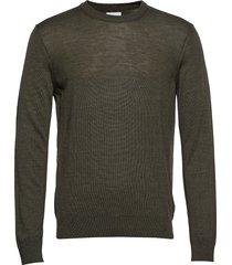 ted 6120 gebreide trui met ronde kraag groen nn07