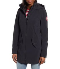 women's canada goose avery water resistant hooded softshell jacket, size xx-large - black