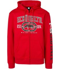 ecko unltd men's rigid rhino full zip hoodie