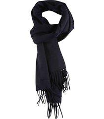 loro piana plate logo fringe edges scarf
