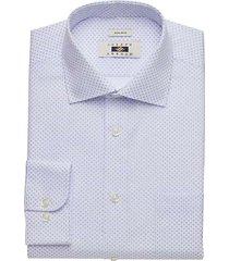 joseph abboud men's light blue circle dot dress shirt - size: 16 34/35