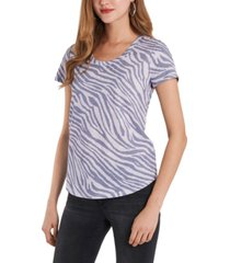 vince camuto animal-print scoop-neck top