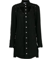 courrèges studded mini dress - black