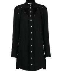 courrèges studded mini dress - black