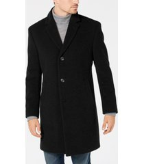 nautica men's barge classic fit wool/cashmere blend solid overcoat