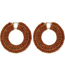 women's vince camuto leather wrapped hoop earrings