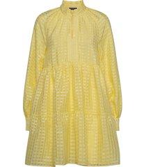jasmine, 864 gingham poly korte jurk geel stine goya