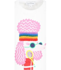 little marc jacobs white t-shirt for girl with dog