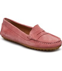 lady car shoe loafers låga skor rosa morris lady