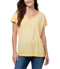 william rast split-neck raglan-sleeve t-shirt