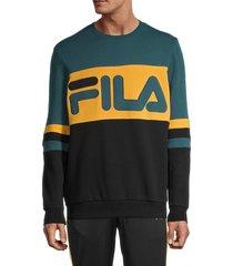 fila men's freddie logo sweatshirt - black - size s