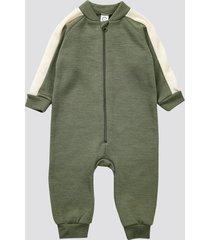 overall i merinoull - olivgrön