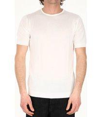 john smedley white cotton t-shirt