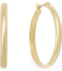 charter club medium gold-tone band hoop earrings, 1""