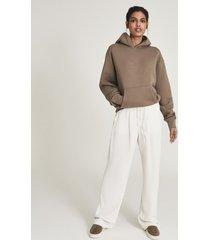 reiss andie - oversized loungewear hoodie in khaki, womens, size l